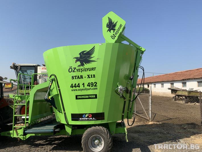 Машини за ферми Говедовъдство Фуражосмесител 12 м3 0 - Трактор БГ