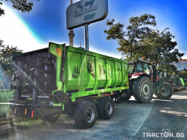 Машини за ферми Тороразхвърлящо ремарке за оборска тор 1 - Трактор БГ