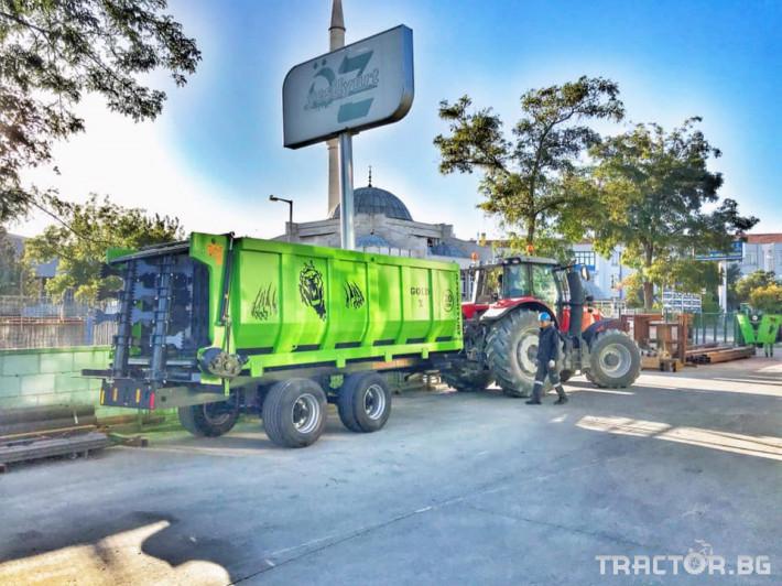 Машини за ферми Тороразхвърлящо ремарке за оборска тор 2 - Трактор БГ