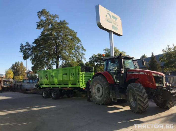 Машини за ферми Тороразхвърлящо ремарке за оборска тор 3 - Трактор БГ