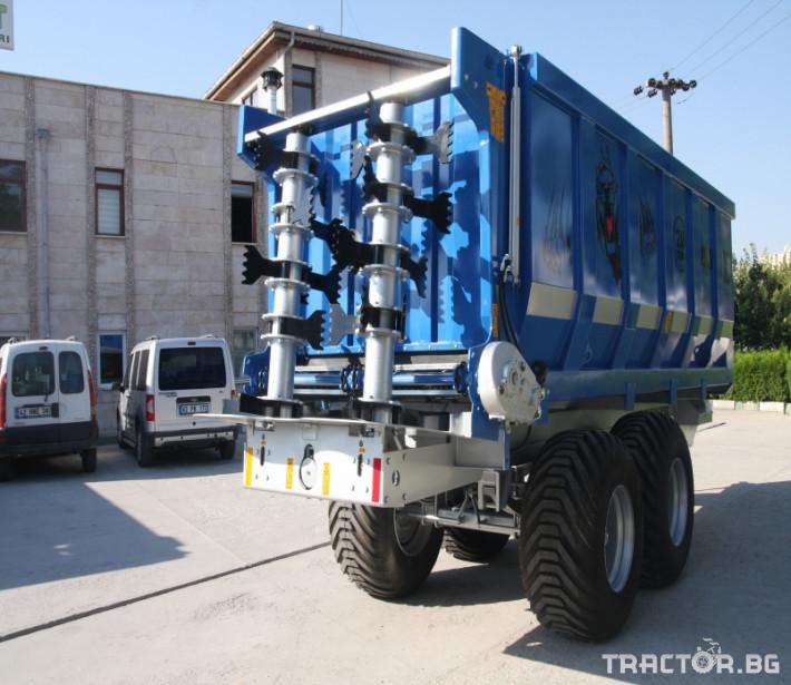 Машини за ферми Тороразхвърлящо ремарке за оборска тор 5 - Трактор БГ